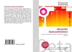 Capa do livro de Alexander Badrow(Politiker)
