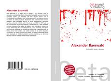 Alexander Baerwald的封面