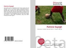 Portada del libro de Patricio Sayegh