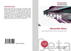 Bookcover of Alexander Balus