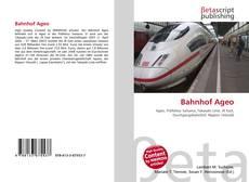 Bookcover of Bahnhof Ageo