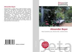 Portada del libro de Alexander Bayer