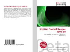 Portada del libro de Scottish Football League 1899–00