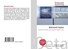 Bookcover of Bahnhof Aalen