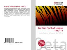 Bookcover of Scottish Football League 1912–13