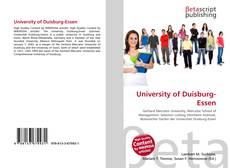 Bookcover of University of Duisburg-Essen