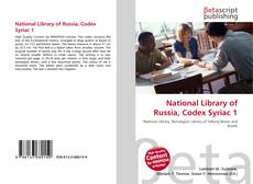 Portada del libro de National Library of Russia, Codex Syriac 1