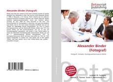 Bookcover of Alexander Binder (Fotograf)
