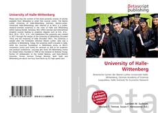 Bookcover of University of Halle-Wittenberg