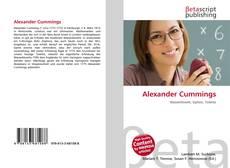 Buchcover von Alexander Cummings