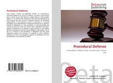 Couverture de Procedural Defense