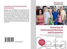 Buchcover von University of International Business and Economics