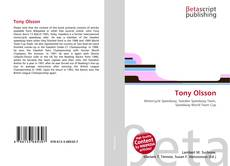 Bookcover of Tony Olsson