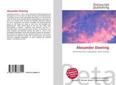 Обложка Alexander Doering