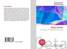Bookcover of Sony Center