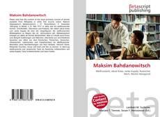 Buchcover von Maksim Bahdanowitsch