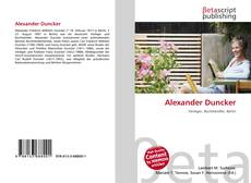 Buchcover von Alexander Duncker
