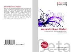Alexander-Klaus Stecher kitap kapağı