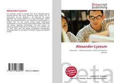 Buchcover von Alexander-Lyzeum