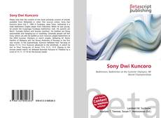 Bookcover of Sony Dwi Kuncoro