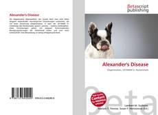 Buchcover von Alexander's Disease