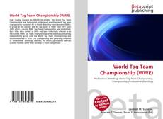 World Tag Team Championship (WWE)的封面