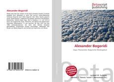 Bookcover of Alexander Bogoridi