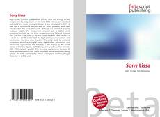 Bookcover of Sony Lissa