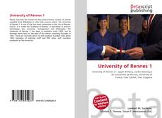 Bookcover of University of Rennes 1