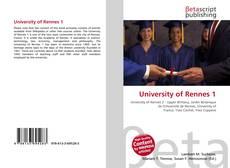 Buchcover von University of Rennes 1