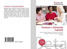 Bookcover of Toulouse 1 University Capitole