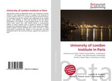University of London Institute in Paris的封面