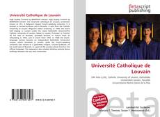 Buchcover von Université Catholique de Louvain