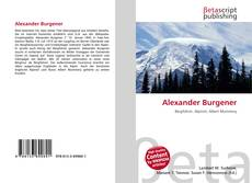 Bookcover of Alexander Burgener
