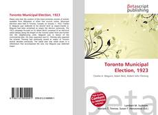 Bookcover of Toronto Municipal Election, 1923