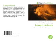 Bookcover of Cryogenic Hardening