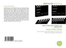 Love (1927 film) kitap kapağı