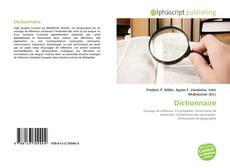 Bookcover of Dictionnaire