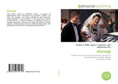 Bookcover of Mariage