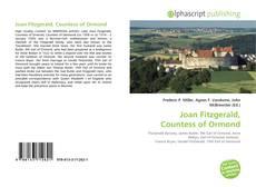 Обложка Joan Fitzgerald, Countess of Ormond