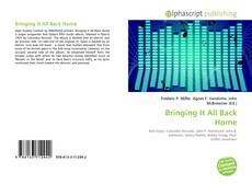 Bookcover of Bringing It All Back Home
