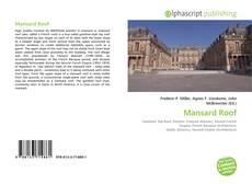 Bookcover of Mansard Roof