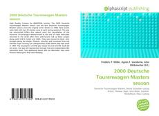 Bookcover of 2000 Deutsche Tourenwagen Masters season