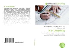 Bookcover of P. D. Ouspensky
