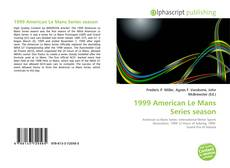 1999 American Le Mans Series season kitap kapağı