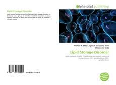 Couverture de Lipid Storage Disorder