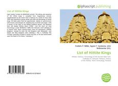 Copertina di List of Hittite Kings