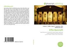 Bookcover of Effie Bancroft