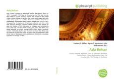Capa do livro de Ada Rehan