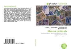 Capa do livro de Maurice de Hirsch